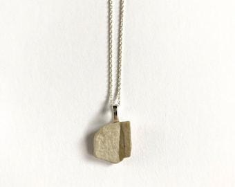 Lake Michigan Beach Stone Necklace: Delicate Geometry