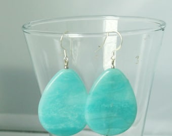 Amazing Amazonite Sterling Silver Earrings