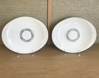 Vintage Temporama china Platters by Cannonsburg, Mid Century Modern Atomic Era