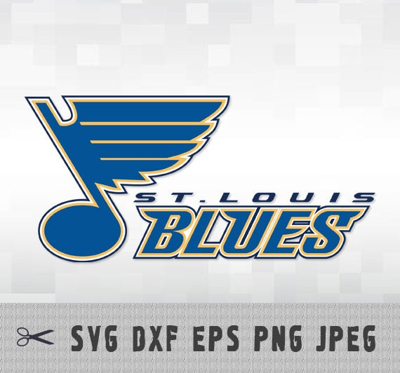 St Louis Blues Svg Png Dxf Logo Layered Vector Cut File