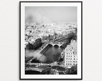 Eiffel Tower Photo - Paris Photography, Paris Wall Art, Paris Print, Paris Bedroom Decor, Paris Decor, Pigeons