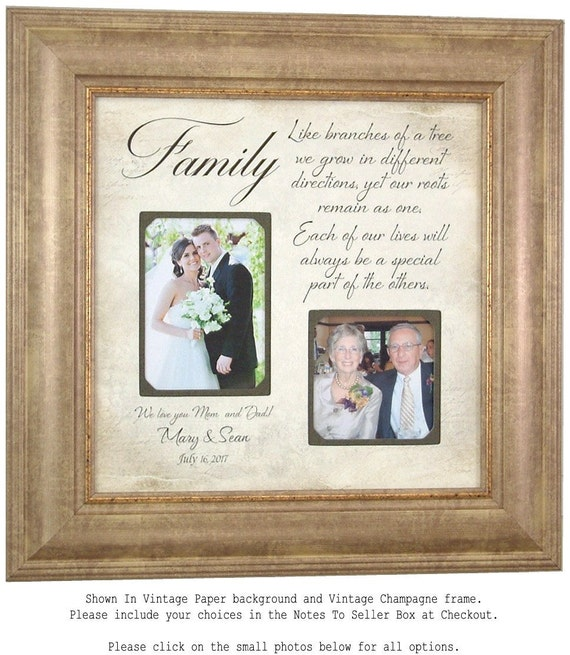 Wedding Gift For Parents Personalized Photo Frame collage