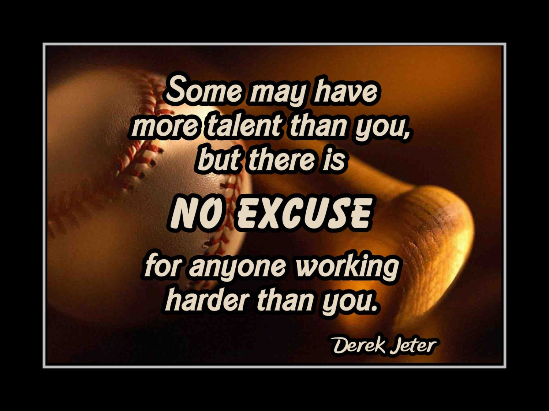 Carli Lloyd Quotes Derek Jeter Yankees Baseball Motivation Quote Poster Son