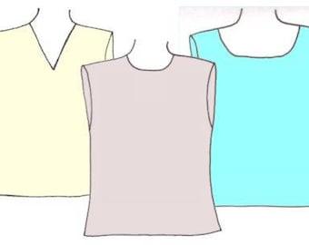 Plus Size Boys Tank Tops PDF Sewing Pattern, Sizes 14-16