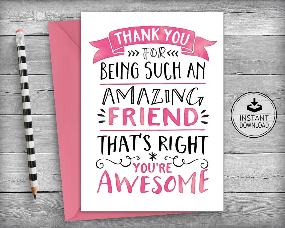 Thank you cards friendship cards thank you friend friend zoom kristyandbryce Gallery