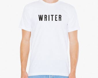 Writer Tshirt - Mens. Book Writer Gifts. Bookworm Literary Writing Tee   Gift for Writers, Gift for Librarians, Book lovers,  Poets