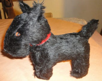 Vintage Black ScotchTerrier Dog Plush