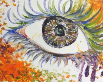 Eye (Original) Oil Paint Monoprint