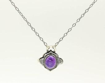 Amethyst Necklace, Amethyst Pendant, Gemstone Necklace, Sterling Silver, Statement Necklace, Silver Pendant Necklace, Amethyst Jewelry