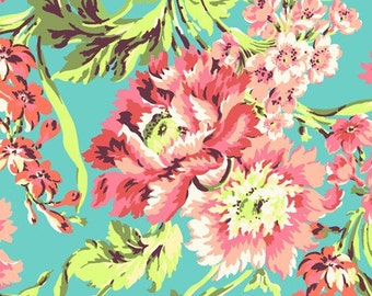 Amy Butler Fabric Bliss Bouquet Teal, Choose your cut
