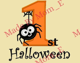 Itsy Bitsy Spider 1st Halloween Applique