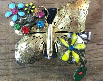 Fairy Hair, Repurposed Vintage, Butterfly, hair clip