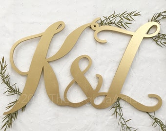 Large Two Initials Monogram Sign. Event Sign. Wedding, Anniversary.