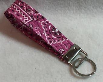 Key Fob - Pink Bandana (#001.28)