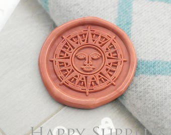 Buy 1 Get 1 Free - 1pcs Vintage Sun Compass Rose Gold Plated Wax Seal Stamp (WS410)