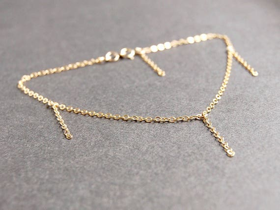 gold jewelry initial anklet pin bridesmaid bracelet dainty heart ankle custom