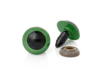 Safety eyes 12 mm plastic toys, dolls-Green