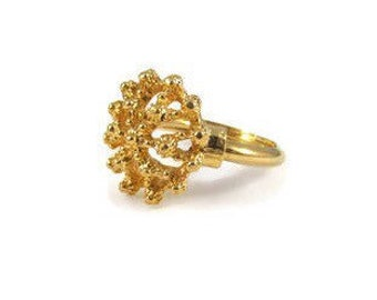 Flower Ring Size 5 Size 6 Adjustable Ring Statement Ring Floral Ring Gold Flower Gold Ring Vintage Ring Gift Idea Gift For Her