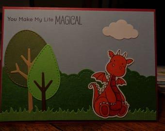 Magical dragon card