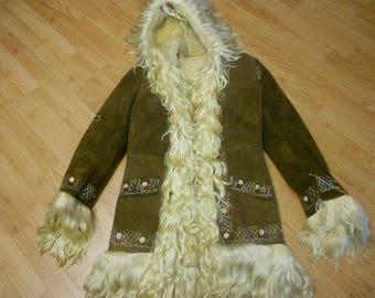 Hooded Beautiful Afghan Hand embroidered Coat (Rare)SALE
