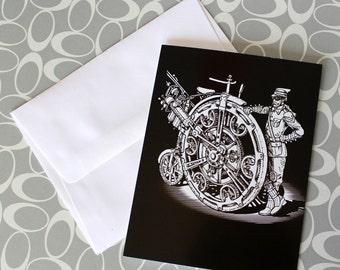 Nickelfarthing Greeting Card Blank