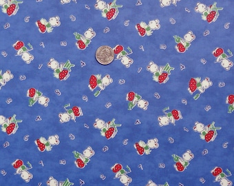 Laminated Cotton: 27 Letters by Chloes Closet for Moda (blue) - 1 Yard (OOP)
