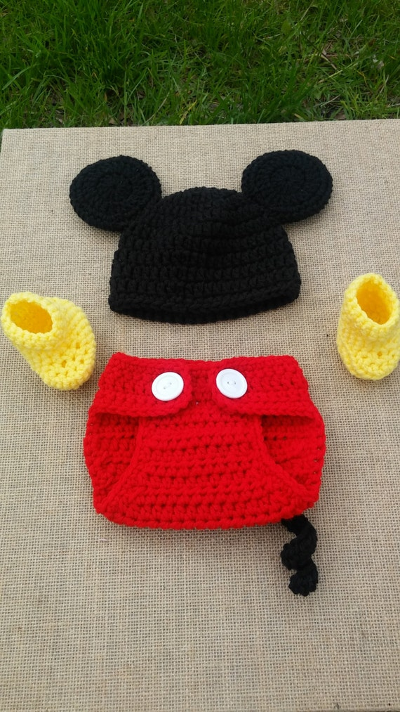Cincinnati Reds Mickey Mouse Hat Crochet