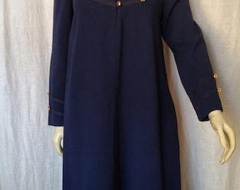 Vintage 80s Parisian Sailor Dress