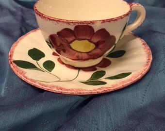 Red flower Teacup & Saucer