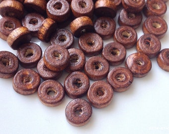 8 mm x 3 mm Brown Colour Wooden Beads (.mt)