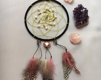 Pearly Pink Dream Catcher