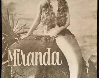 Original 1948 Miranda Austrian Movie Poster Program Pressbook, Mermaid, Glynis Johns