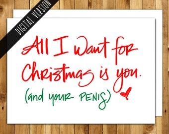 Printable Christmas Card - Naughty Christmas - For Boyfriend - For Him - Funny Christmas Card - DIY -