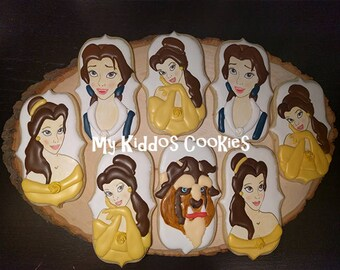 Beauty and The Beast Cookies - 1 dozen