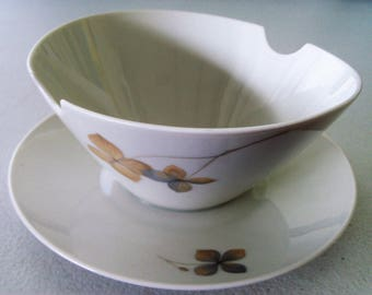Rosenthal Wood Nymph Gravy Boat With Attached Underplate