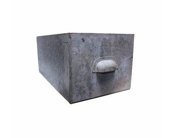 Vintage Industrial Galvanized Bin