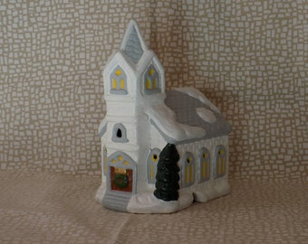 Christmas Village, Light Up House, Christmas Village House, Church