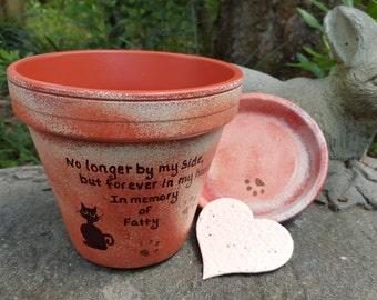 Pet Sympathy Gift - Pet Memorial Gift - Painted Flower Pot - Dog Memorial - Cat Memorial - Pet Memorial Planter