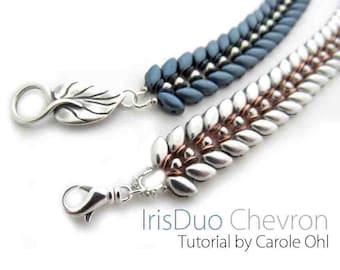 Iris Chevron Beadweaving Tutorial by Carole Ohl