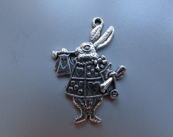 White Rabbit alice in wonderland Jewellery Charm