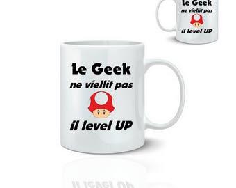 Geek mug level up - mug 325 ml ceramic
