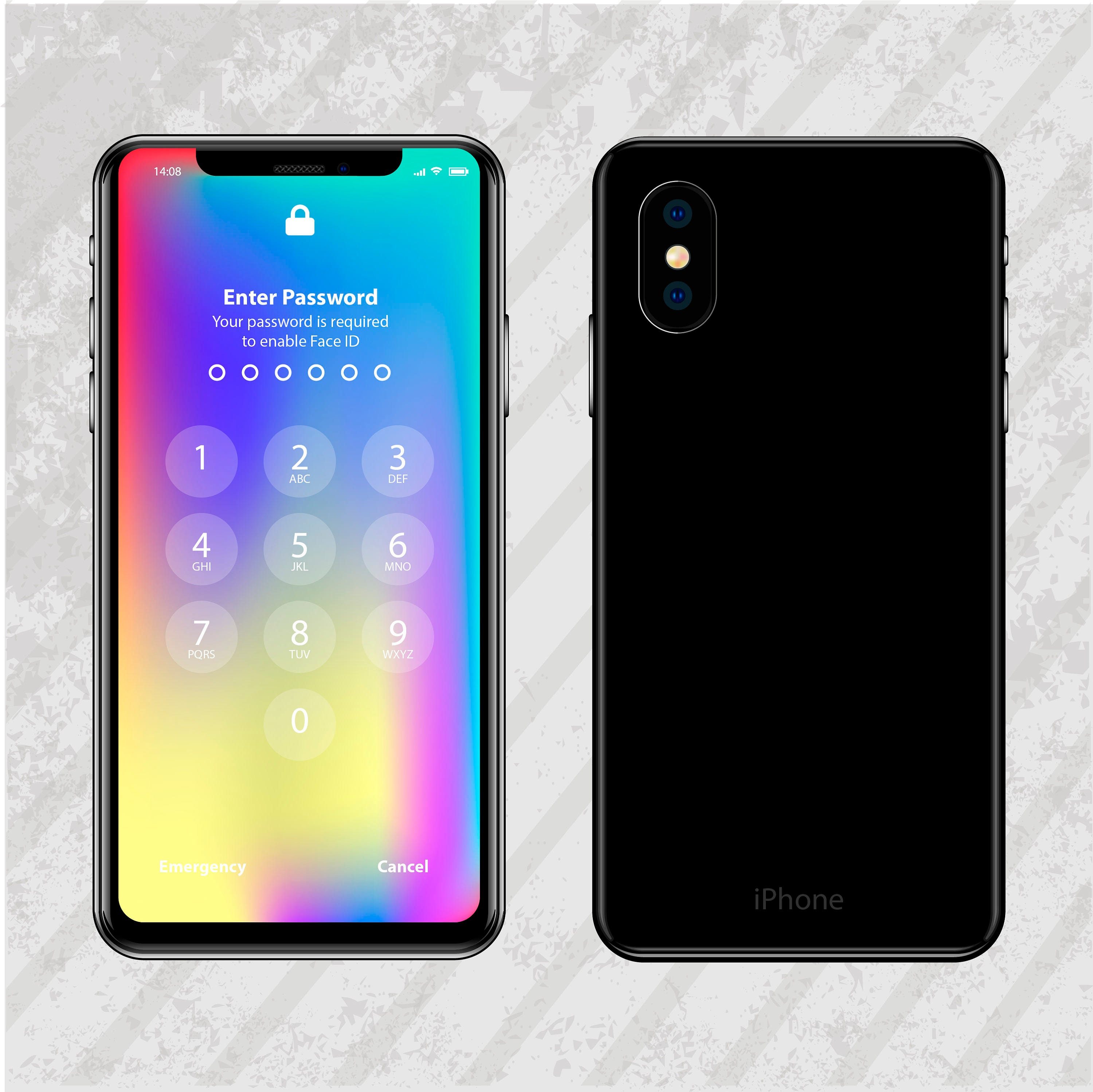 new iPhone X cool vector Style template
