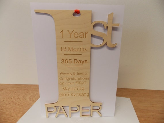 St wedding anniversary meaning card personalised