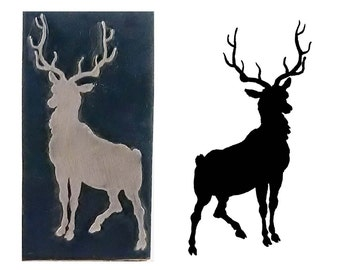 stag silhouette inspired printing stamp