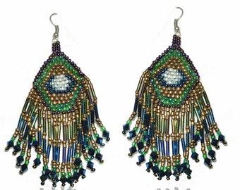 Ethnic beaded earrings