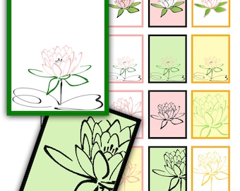 Lotus Blossom Printable Planner Stickers