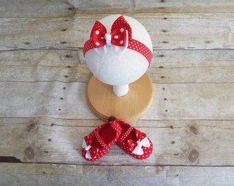 Baby shoes and headband, baby accessories, baby minie accessories