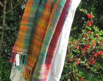 Rainbow 2 - a hand-woven shawl