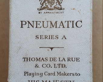 Antique De La Rue Pneumatic Series A Playing Cards.De La Rue Pneumatic Playing Cards,Playing Card Makers To His Majesty King George V