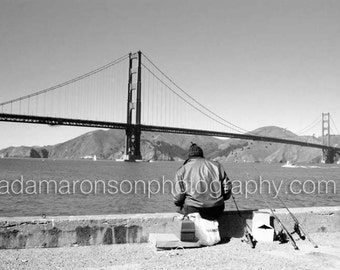 Photography of the Golden Gate fisherman